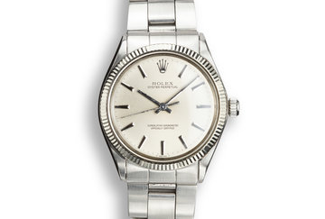 1972 Rolex Oyster Perpetual 1005 Silver No Lume Dial photo