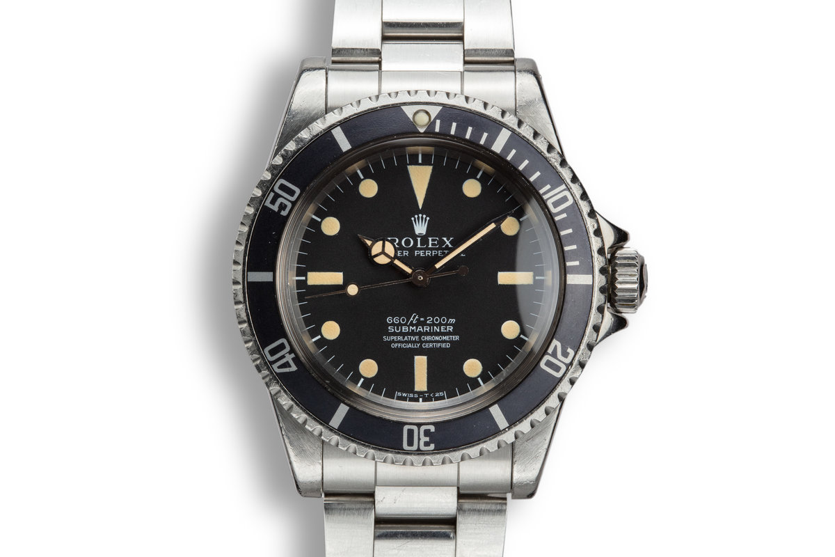 1977 Rolex Submariner 5512 Serif 4 Line Dial photo, #0