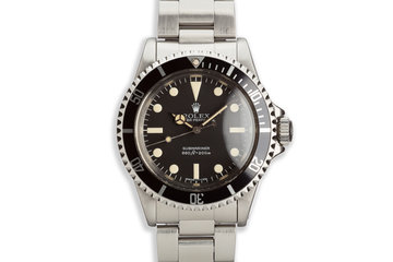 1981 Vintage Rolex Submariner 5513 MK III Maxi Lollipop Dial photo