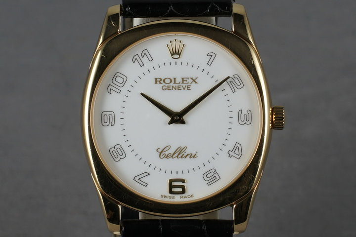 2001 Rolex 18K Cellini 4233 with Papers photo