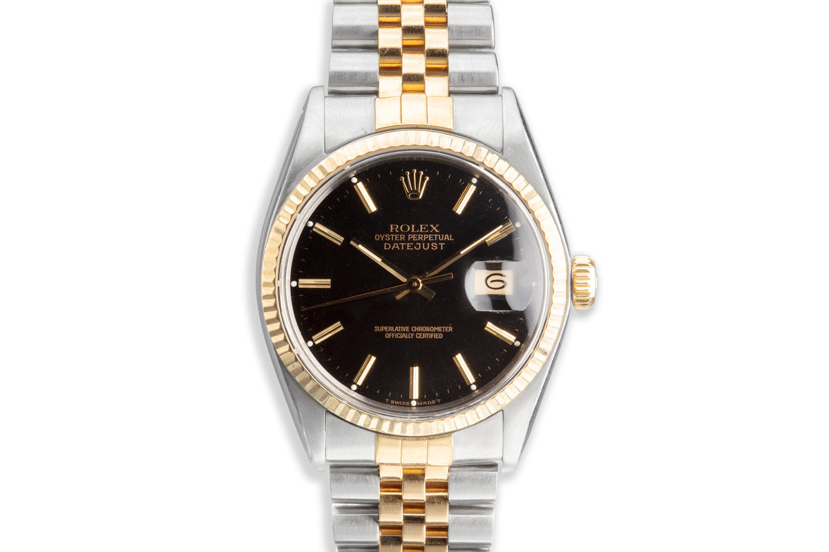 1978 Rolex Two-Tone DateJust 16013 Black Dial photo, #0
