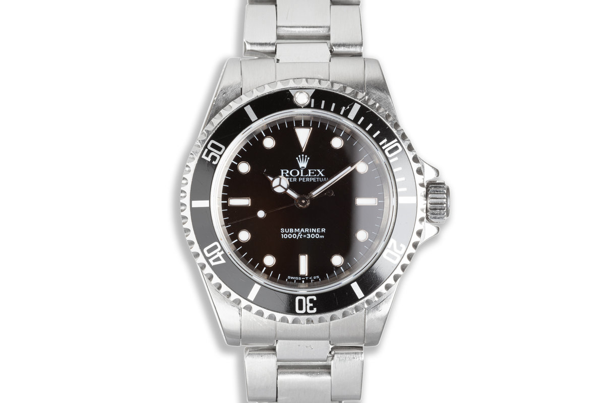 1997 Rolex Submariner 14060 with Box and Booklets photo, #0