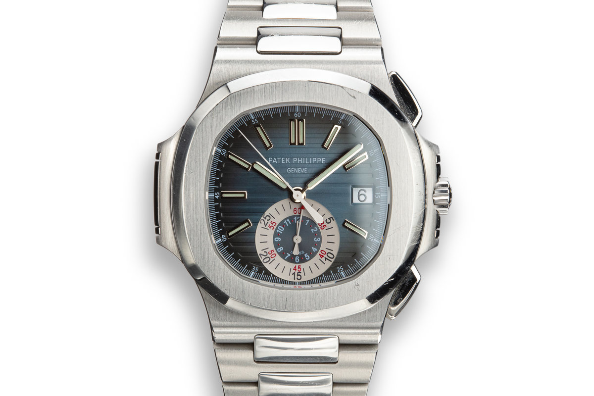 2008 Patek Philippe Nautilus Chronograph 5980 with Box and Papers photo, #0