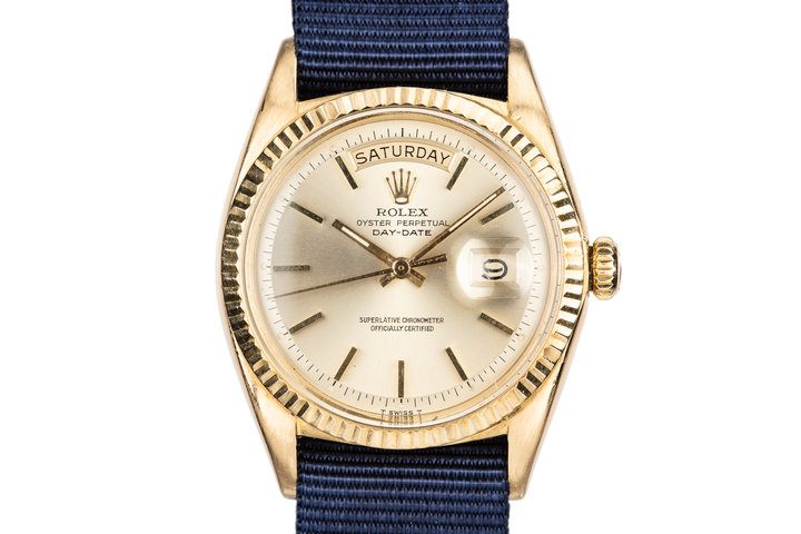 1969 Rolex 18K YG Day-Date 1803 Champagne Dial with Double Punch Papers and Box photo