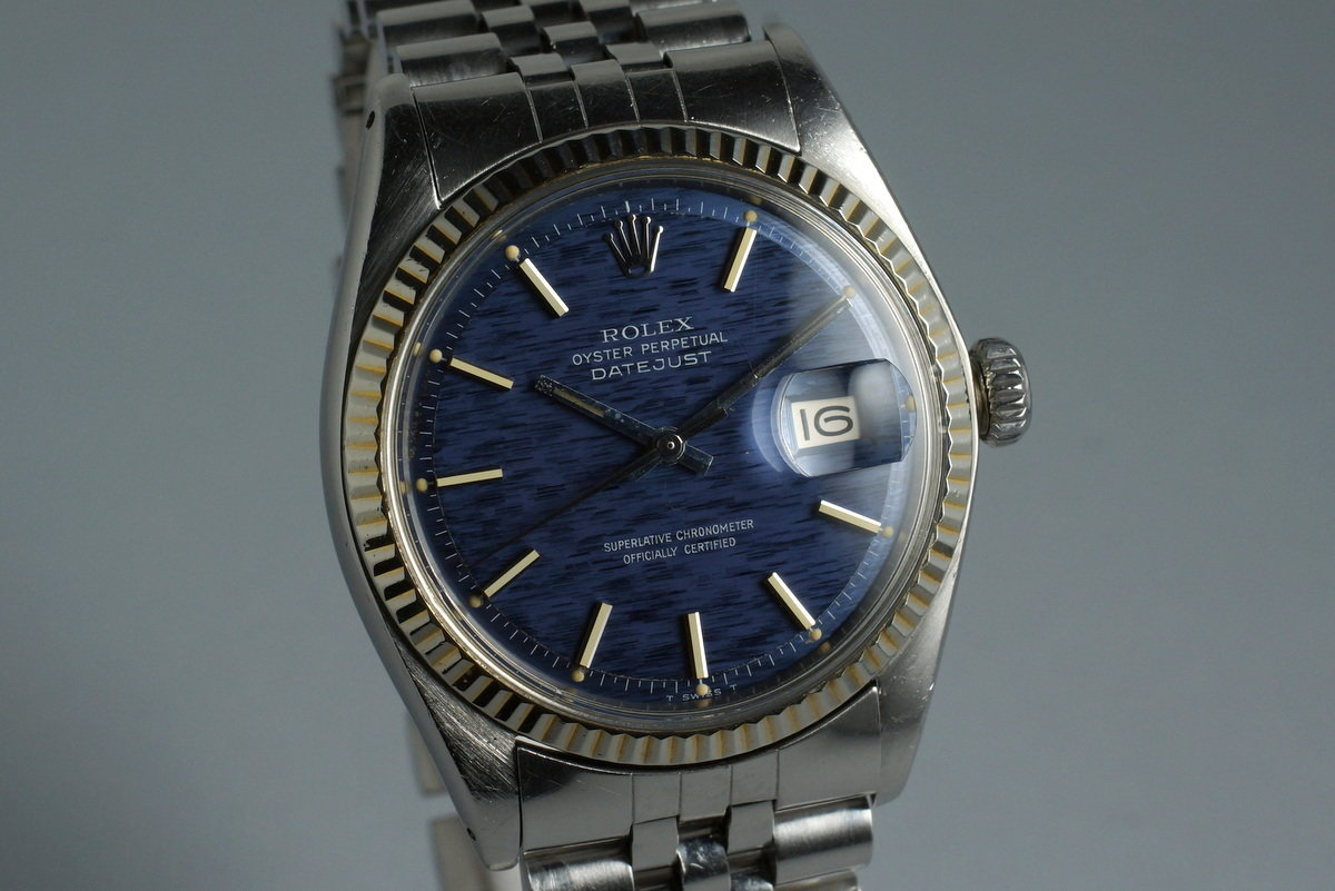 1972 Rolex DateJust 1601 Blue Textured Dial photo, #1