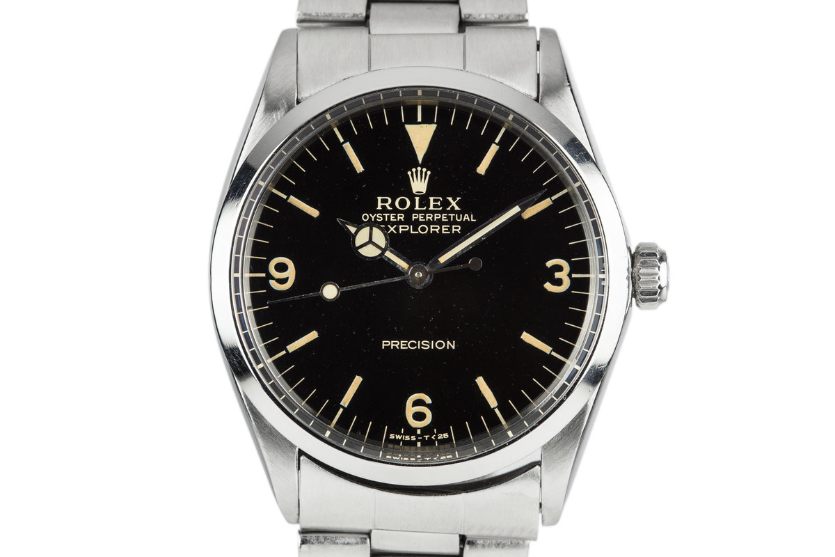 1967 Rolex Mid Size Oyster Explorer 5500 with Gilt 3, 6, 9 Dial photo, #0