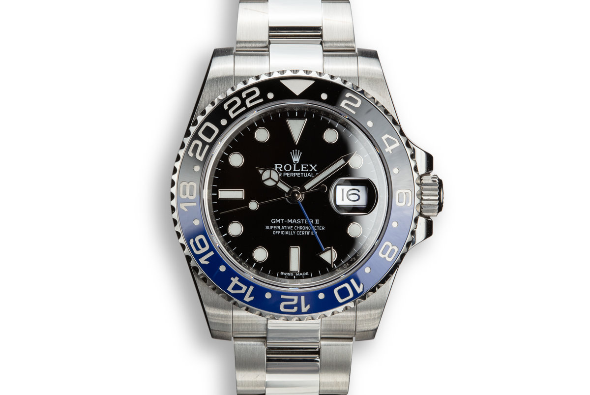 "2014 Rolex GMT-Master II 116710 BLNR ""Batman"" with Box and Papers photo, #0"
