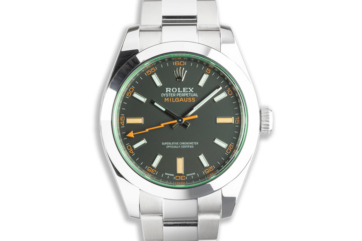 2020 Rolex Green Milgauss 116400GV with Box and Card photo