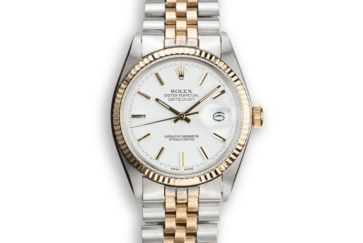 1971 Rolex Two-Tone DateJust 1601 with White Service Dial photo