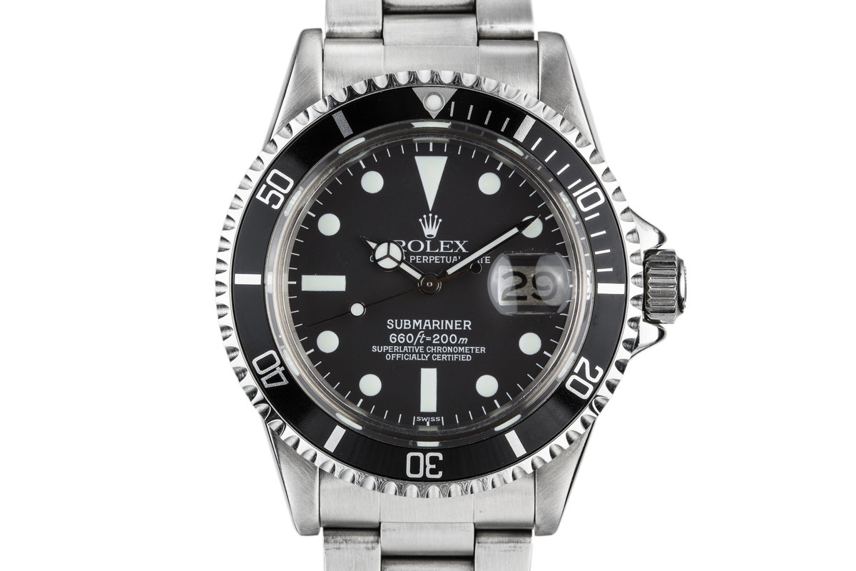1979 Rolex Submariner 1680 with Luminova Service Dial and Hands photo, #0