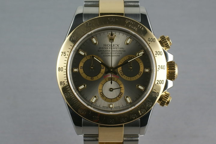 Rolex 18K/Steel Daytona Ref: 116523 Slate dial with box and papers photo