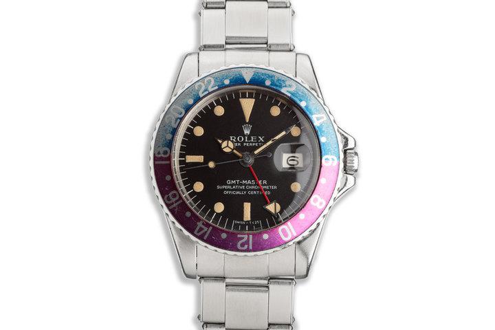 "1968 Vintage Rolex GMT-Master ""Fuchsia"" 1675 Matte Dial photo"