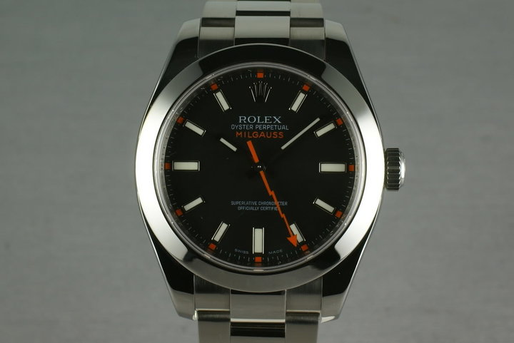 Rolex Milgauss BLACK Dial 116400  with Box and Papers photo