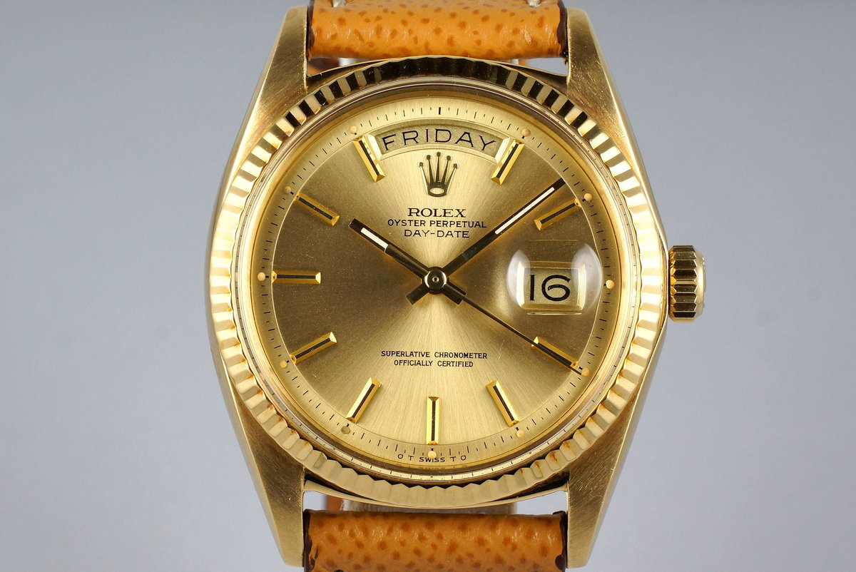 1972 Rolex YG Day-Date 1803 Champagne Sigma Dial photo, #0