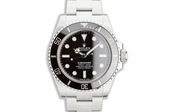 2020 41mm Rolex Submariner No-Date 124060 with Box & Card photo