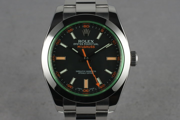 2010 Rolex Milgauss Green 116400 GV photo