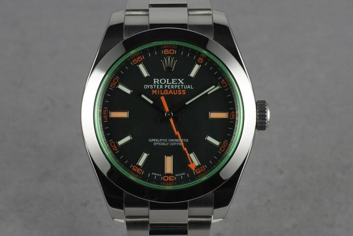 2010 Rolex Milgauss Green 116400 GV photo