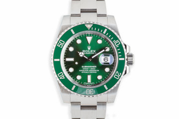 "2016 Rolex Green Submariner 116610LV ""Hulk"" with Box and Papers photo"