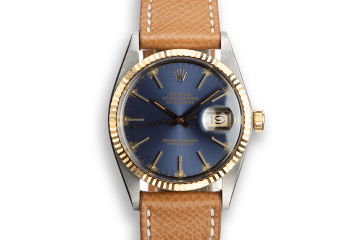 1984 Rolex Two-Tone DateJust 16013 Blue Dial photo