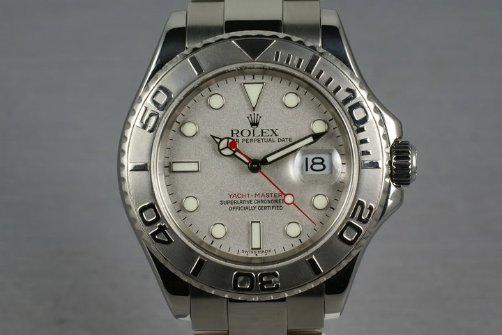 Rolex Platinum and Stainless Steel Yacht-Master Ref: 16622 photo