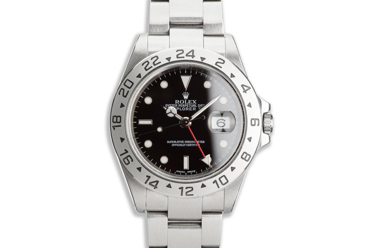 2002 Rolex Explorer II 16570 Black Dial w/ Papers photo, #0