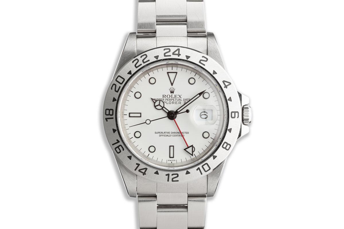 """1999 Rolex Explorer II 16570 """"Polar"""" White Dial photo, #0"""