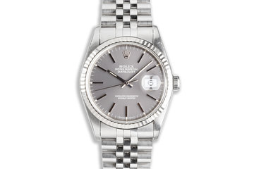 1994 Unpolished Rolex DateJust 16234 with Gray Dial photo