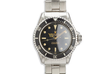 1963 Rolex Submariner 5513 Gilt Underline Dial with PCG photo