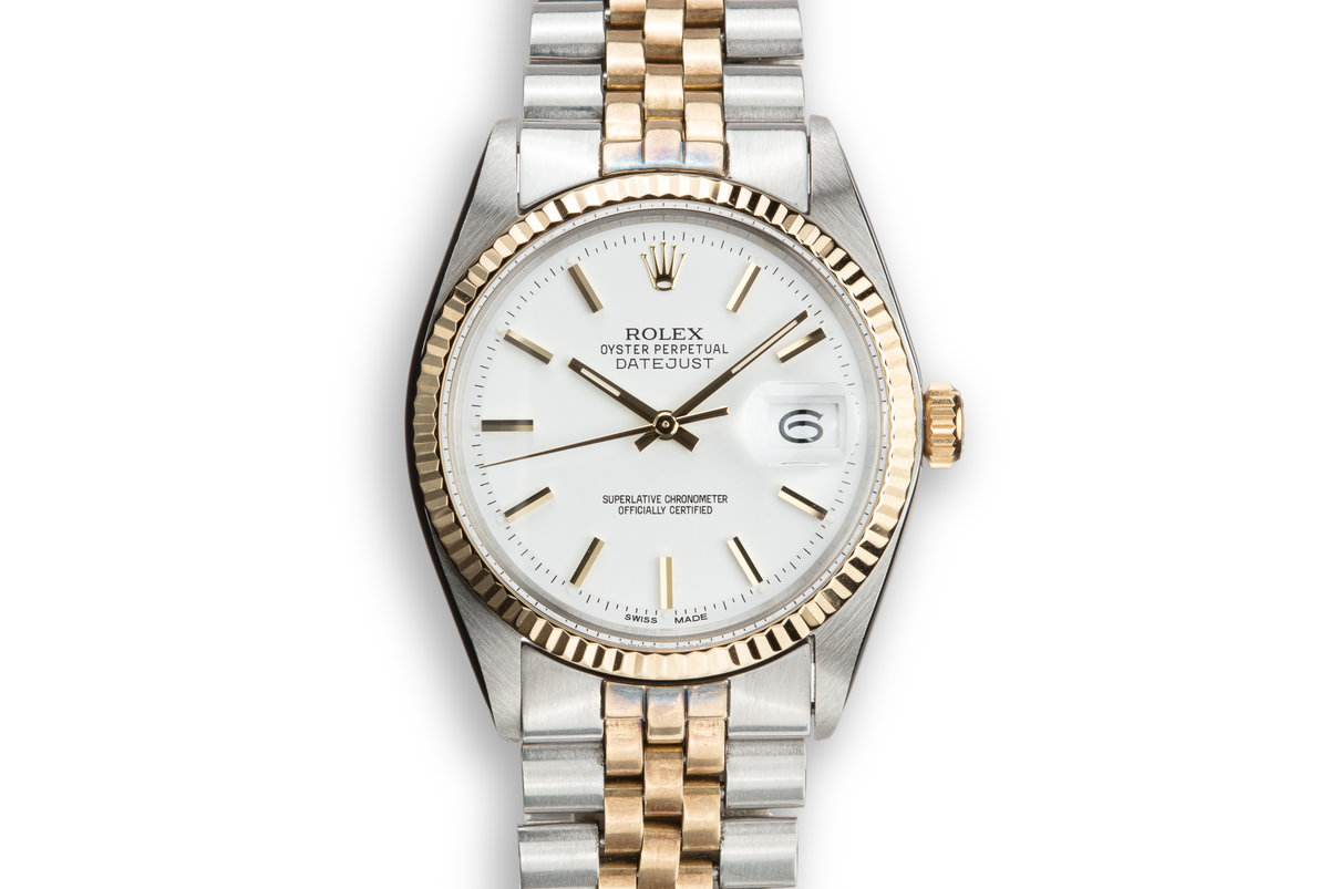 1971 Rolex Two-Tone DateJust 1601 with White Service Dial photo, #0