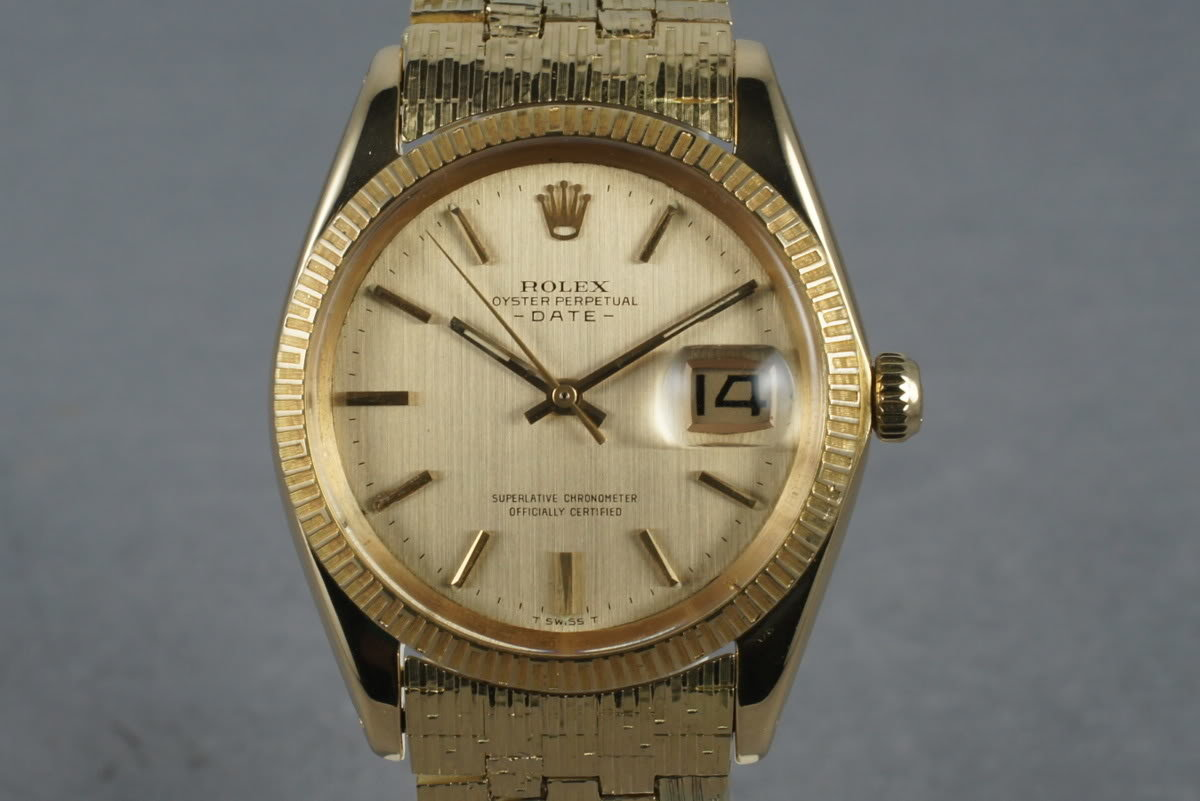 1965 Rolex 18K  Date 1509 with Rare Rolex Band photo, #0