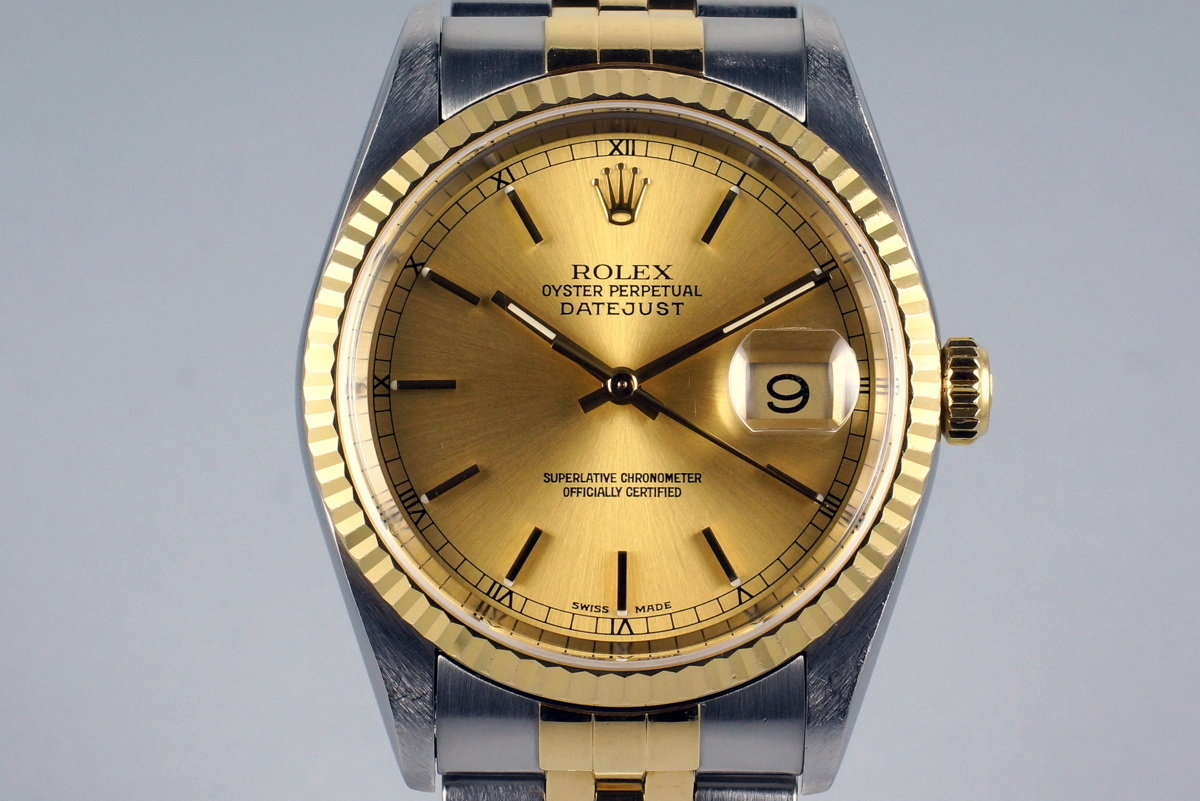 2002 Rolex Two Tone DateJust 16233 photo, #0