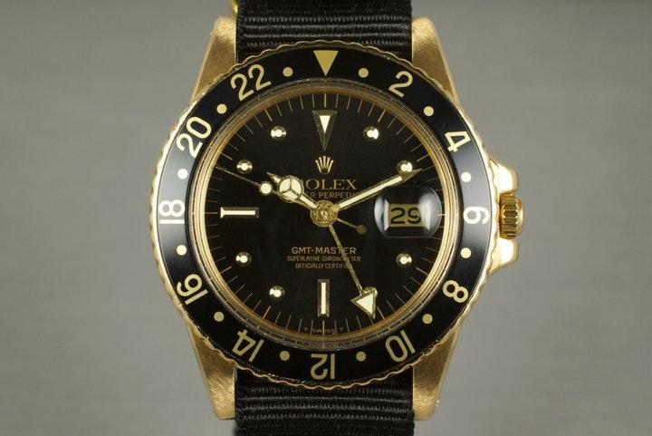 1979 Rolex YG GMT 1675 photo