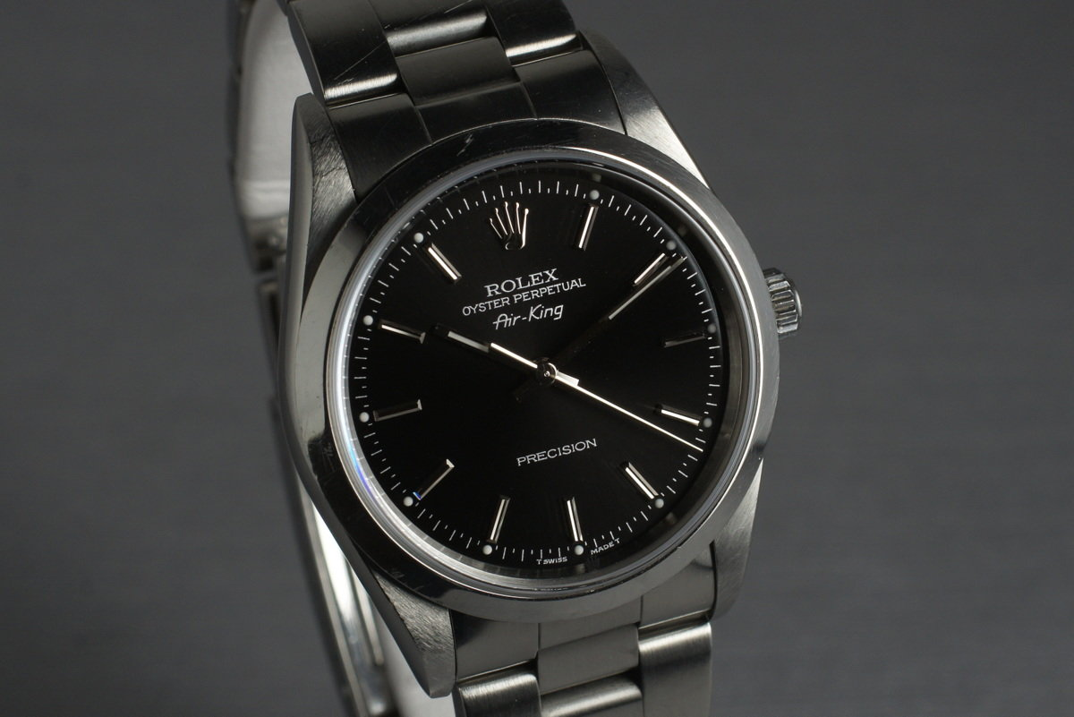 HQ Milton , 1997 Rolex Air King 14000 Black Dial with Box