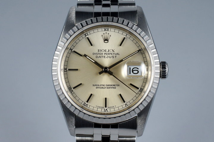 1996 Rolex DateJust 16220 Silver Dial photo