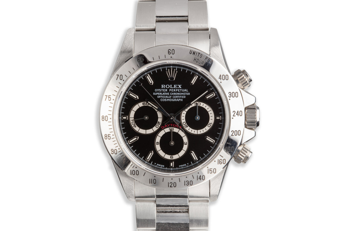 1995 Rolex Zenith Daytona 16520 Black Dial with Box and Papers photo, #0