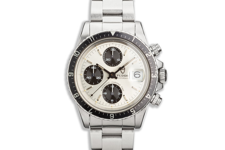 1980 Tudor Chronograph Big Block 94120 Silver & Black Dial photo
