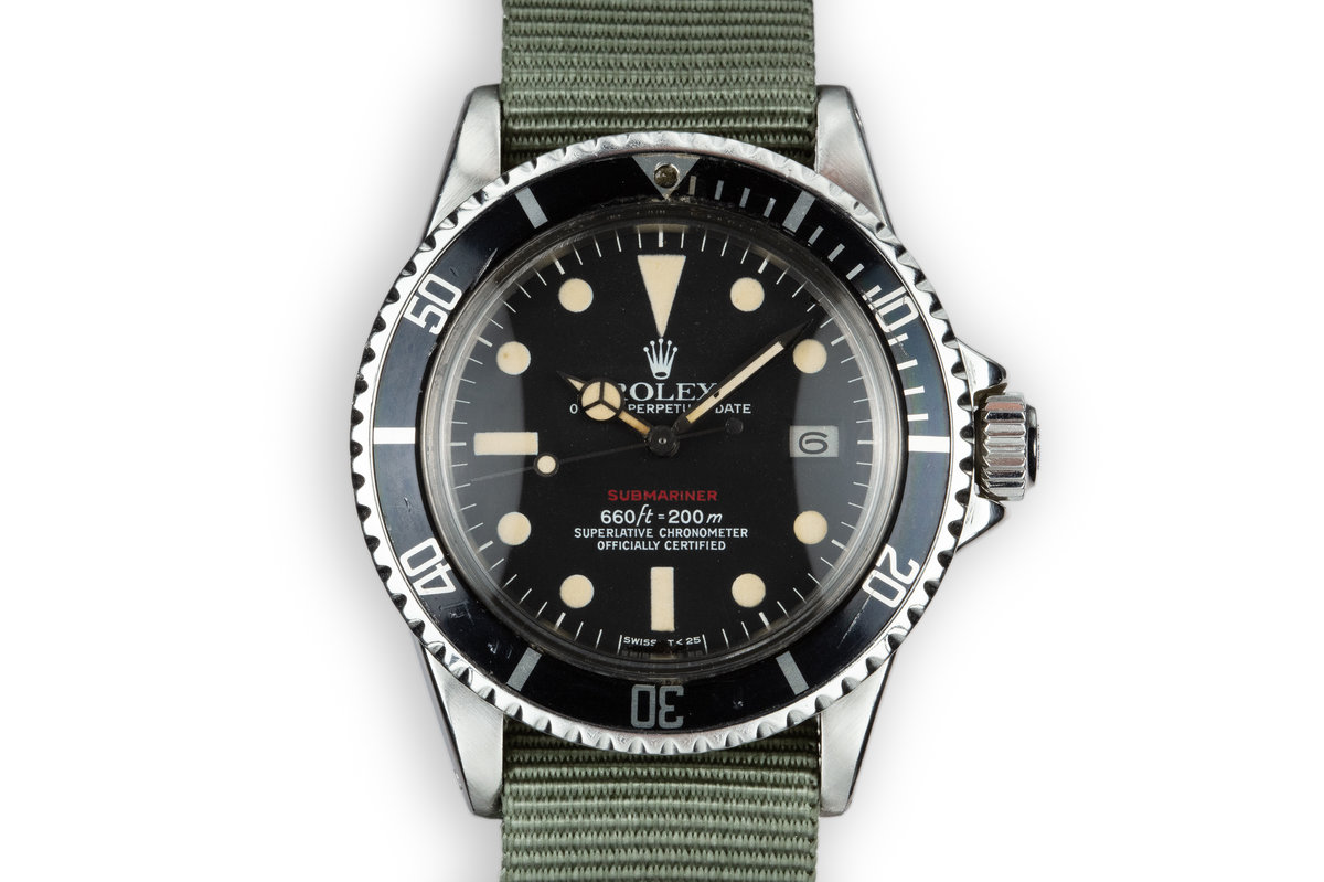 1972 Rolex Submariner 1680 with MK VI Red Dial photo, #0