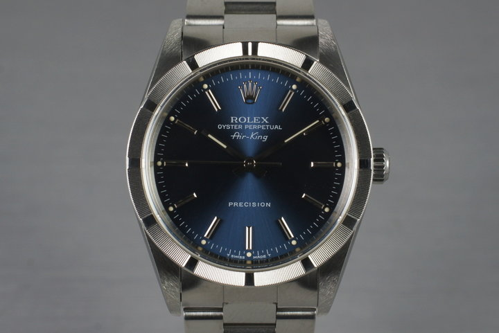 1997 Rolex Air-King 14010 Blue Dial photo