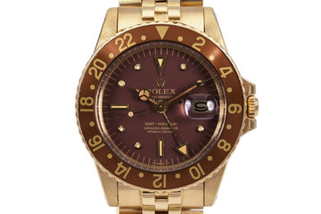 1979 Rolex 18K YG GMT 1675 Brown Dial photo