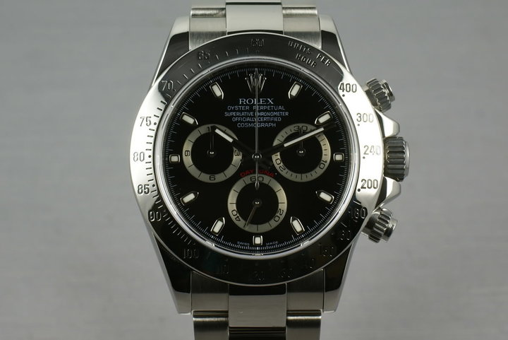 Rolex SS Daytona 116520 Black Dial V serial with papers photo