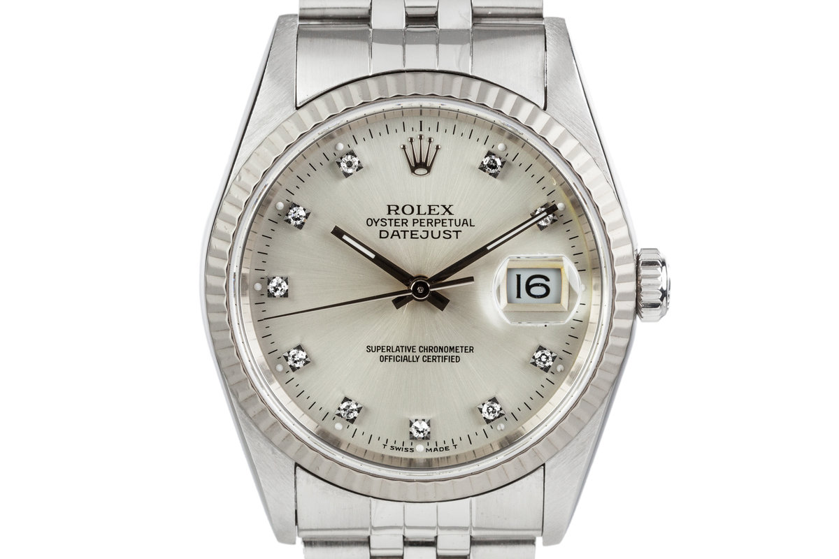 1995 Rolex Datejust 16234 With Diamond Markers photo, #0