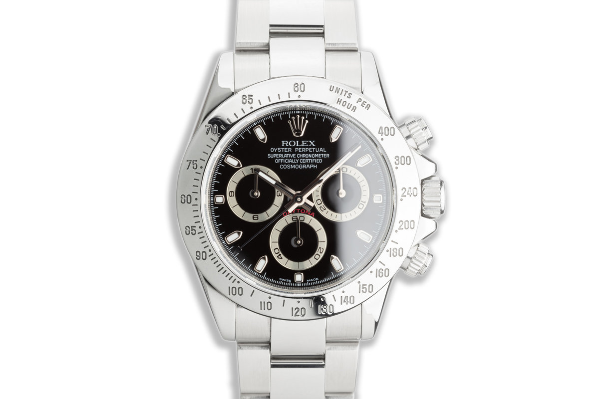 2007 Rolex Daytona 116520 Black Dial with Box & Papers photo, #0