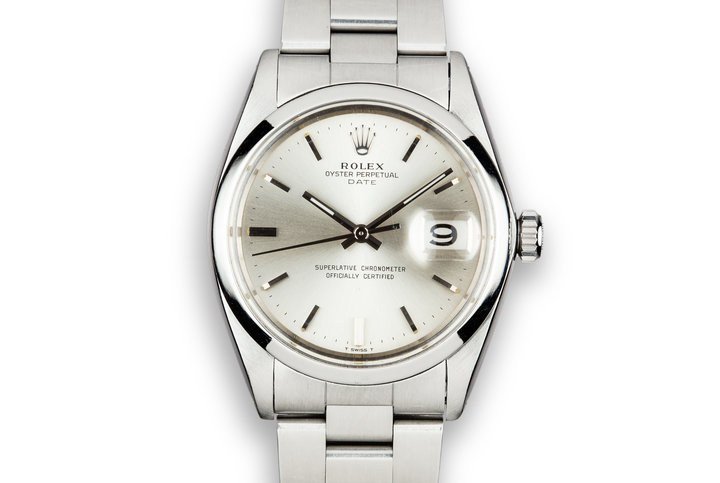 1964 Rolex Date 1500/0 Silver Dial with Service Papers photo