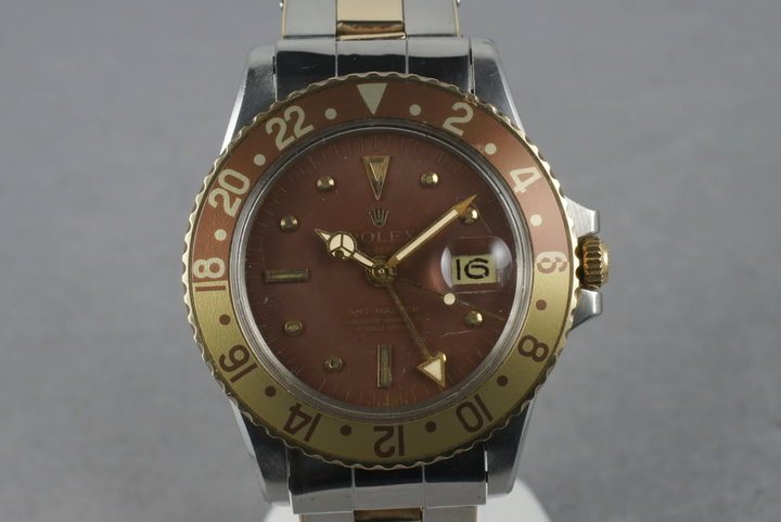 1972 Rolex GMT 14K/SS 1675  with Root Beer Dial photo
