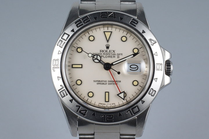 1985 Rolex Explorer II 16550 Cream Rail Dial photo