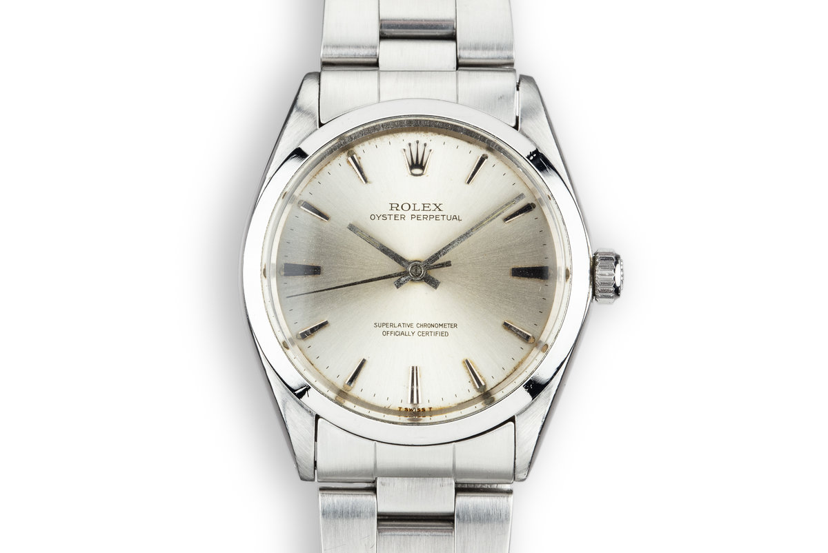 1965 Rolex Oyster Perpetual 1002 Silver Dial with Papers photo, #0
