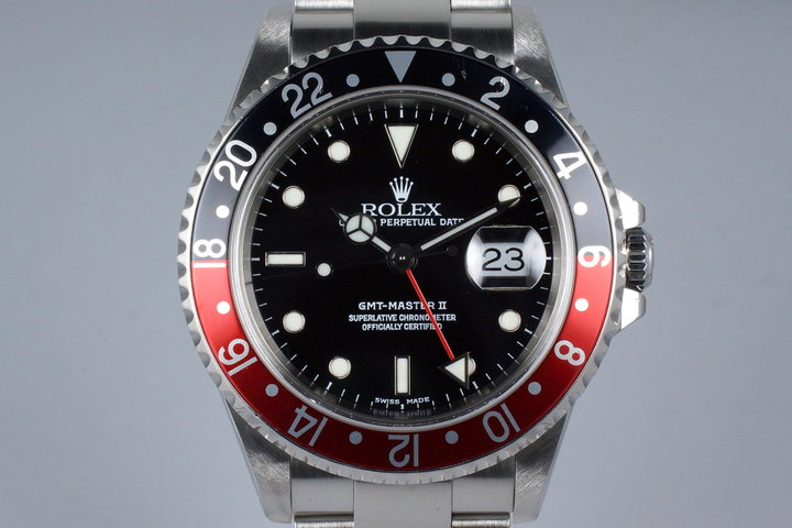2001 Rolex GMT II 16710 with Box and Papers photo