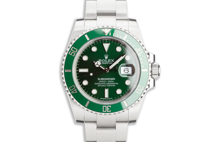 "2018 Rolex Green Submariner 116610LV ""Hulk"" with Box & Card photo"