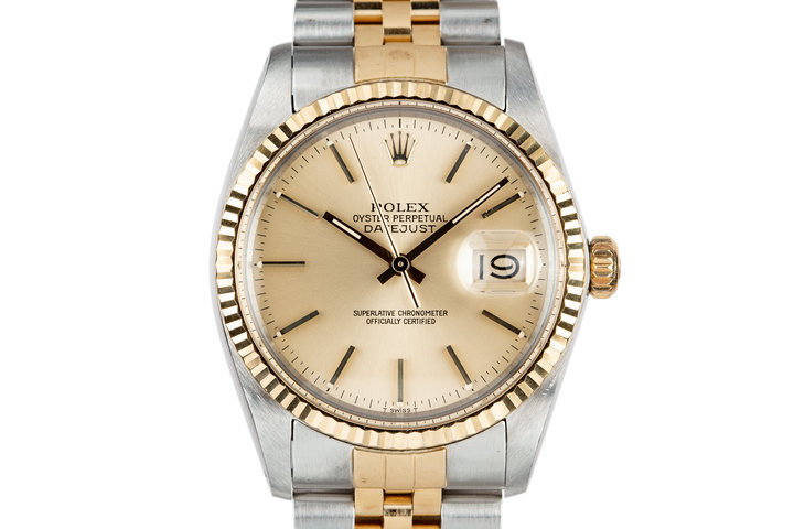1984 Rolex Two Tone DateJust 16013 with Van Cleef's & Arpels Stamped Bracelet, Box and Papers photo