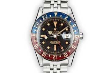 1957 Rolex GMT 6542 Gilt Dial with original Bakelite bezel photo